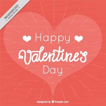 Le jour de valentine heureux avec fond romantique