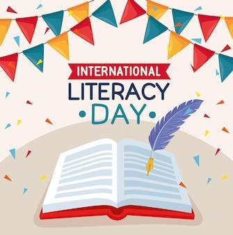 Journée d'alphabétisation avec livre