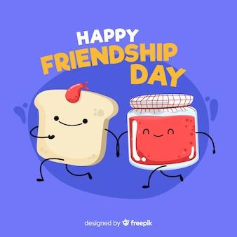 Journée de l'amitié design plat