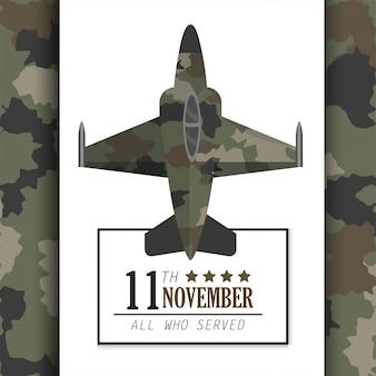 Journée des anciens combattants avec avion militaire