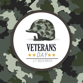 Journée des anciens combattants et casque militaire