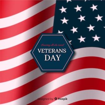 Journée des anciens combattants avec drapeau réaliste