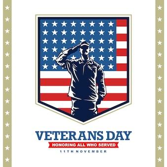 Journée des anciens combattants avec illustration graphique de l'armée