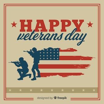 Journée des anciens combattants avec nous des éléments de drapeau