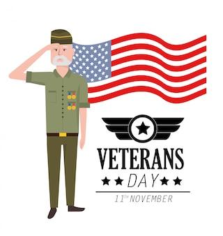 Journée des anciens combattants pour célébrer un policier patriotique