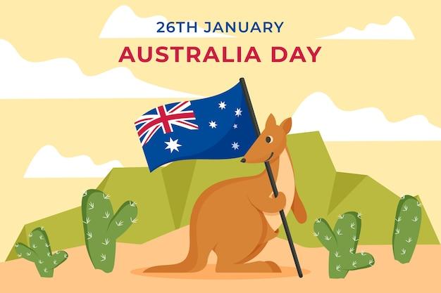 Journée de l'australie au design plat