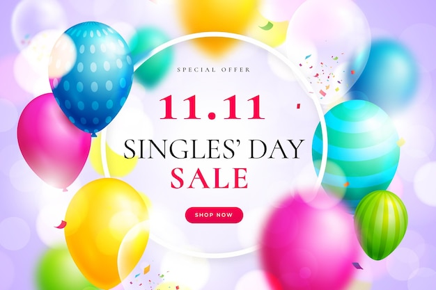 Journée des célibataires ballons colorés