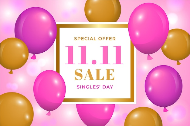 Journée des célibataires avec des ballons réalistes