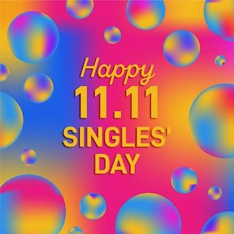Journée des célibataires dégradé abstrait