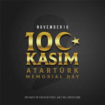 Journée commémorative d'ataturk d'or