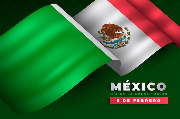 Journée de la constitution du mexique dégradé