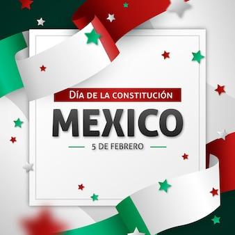 Journée de la constitution mexicaine réaliste