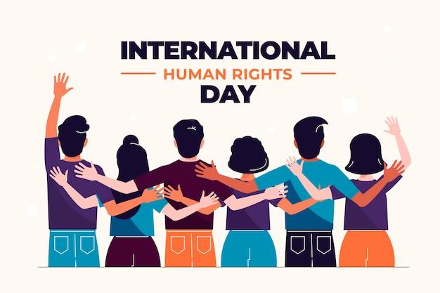 Journée des droits de l'homme design plat