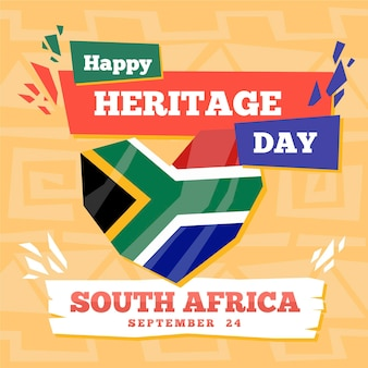 Journée du patrimoine (afrique du sud) au design plat