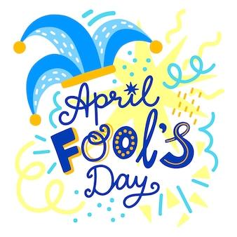 Journée du poisson d'avril dessinée à la main