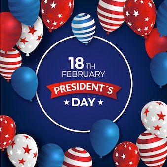 Journée du président avec des ballons réalistes