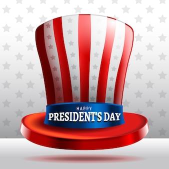 Journée du président chapeau réaliste