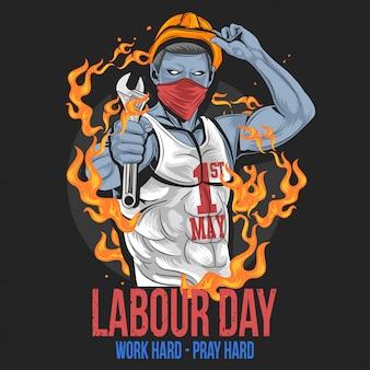 Journée du travail 1er mai jour nouveau vecteur