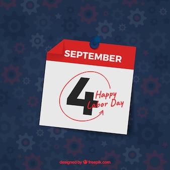 Journée du travail marquée sur le calendrier