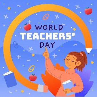 Journée des enseignants dessinée à la main