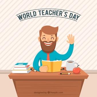 Journée des enseignants, professeur souriant