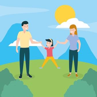 Journée familiale en plein air