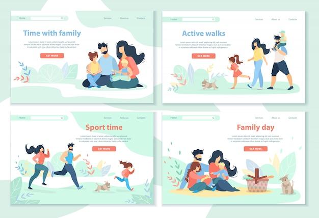 Journée de la famille, loisirs, sport, promenades actives