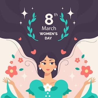 Journée de la femme au design plat