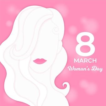 Journée de la femme dans le style du papier