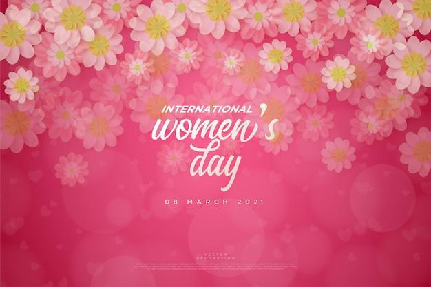 Journée de la femme avec des fleurs fanées.