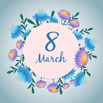 Journée de la femme avec des fleurs
