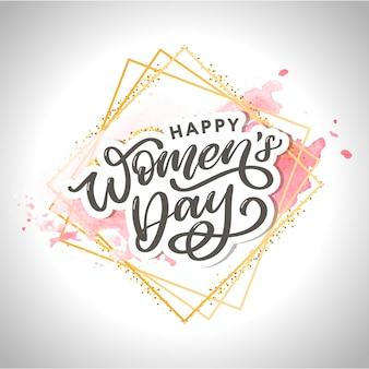 Journée de la femme lettrage typographique