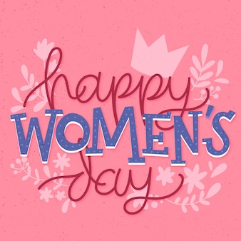 Journée de la femme en lettrage