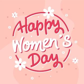 Journée de la femme lettrage