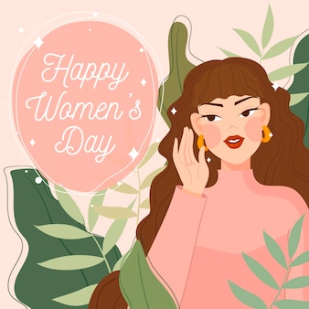 Journée de la femme plate