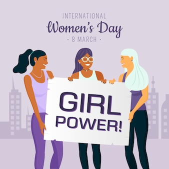 Journée de la femme avec le pouvoir des filles
