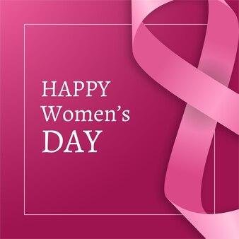 Journée de la femme réaliste avec salutation