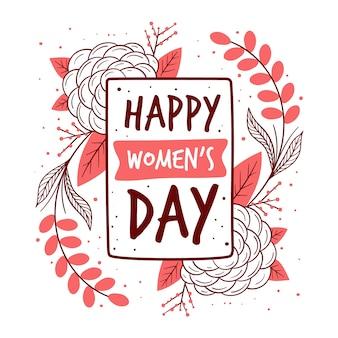 Journée des femmes nature dessinés à la main