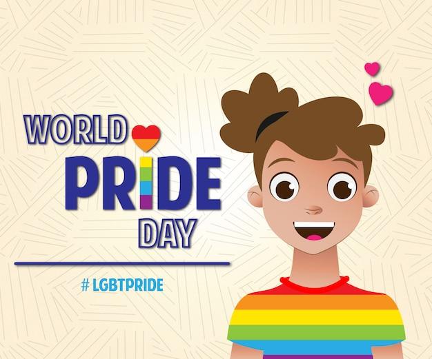 Journée de la fierté mondiale des filles lgbt pride