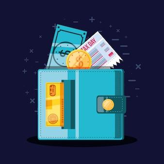 Journée fiscale avec porte-monnaie