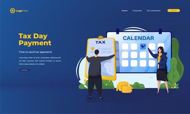 Journée fiscale soumettre le concept de rapport fiscal annuel