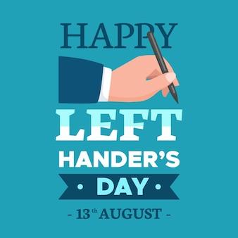 Journée des gauchers au design plat