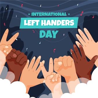 Journée des gauchers aux mains diverses