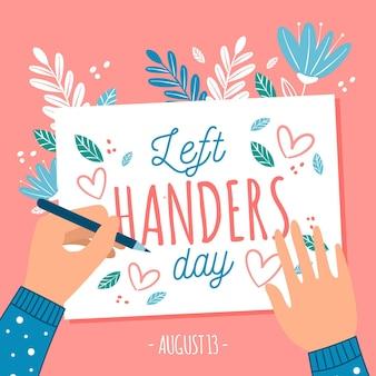Journée des gauchers avec écriture à gauche