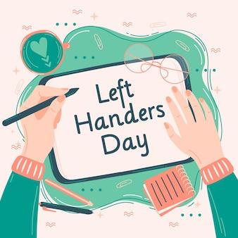 Journée des gauchers avec une personne qui écrit