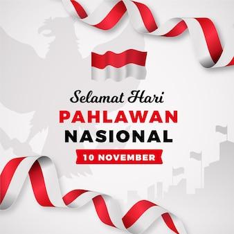 Journée des héros pahlawan dégradé