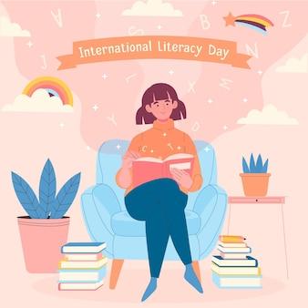 Journée internationale de l'alphabétisation dessinée à la main
