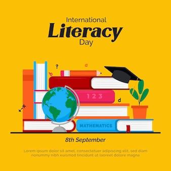 Journée internationale de l'alphabétisation avec des livres