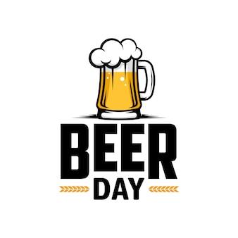 Journée internationale de la bière. affiche, flyer, bannière.