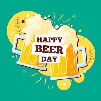 Journée internationale de la bière dessinée à la main